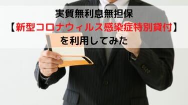 実質無利息無担保の日本政策金融公庫【新型コロナウィルス感染症特別貸付】を利用してみた