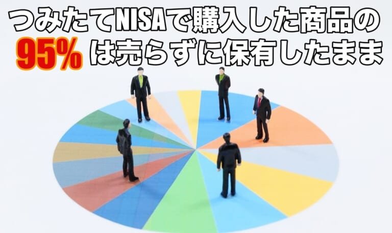 つみたてNISAで購入の95%は売らずに保有したままであった